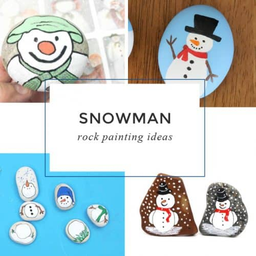 These snowman painted rocksare perfect for your winter rock painting. Use them to decorate your house, give them as handmade gifts, or hide them around your city.