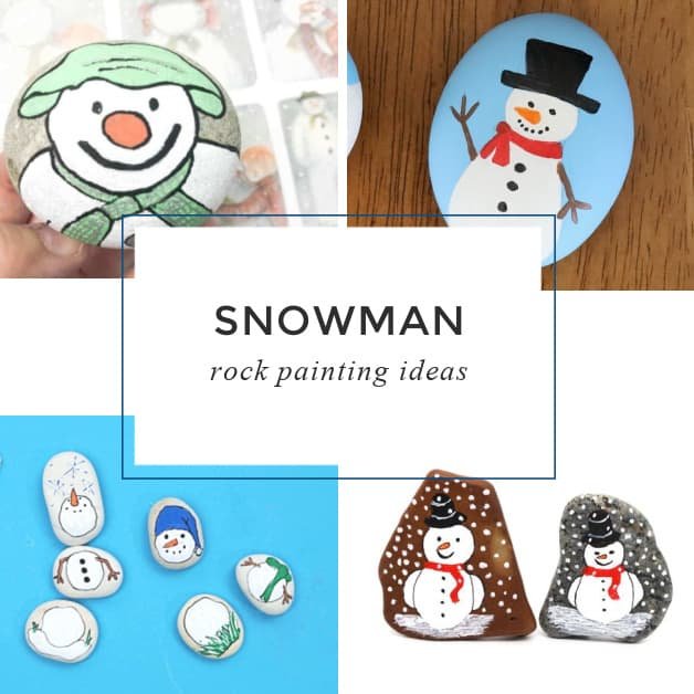 9 easy Snowman Painted Rocks