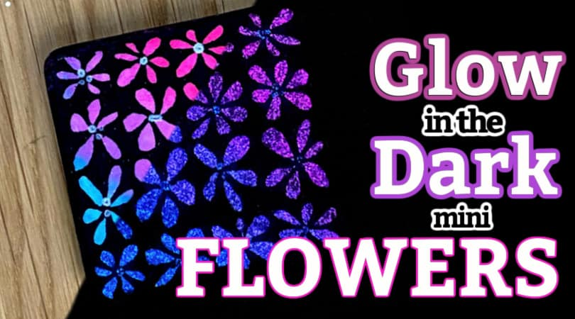 How to paint Mini Flowers with Glow in the Dark Paint