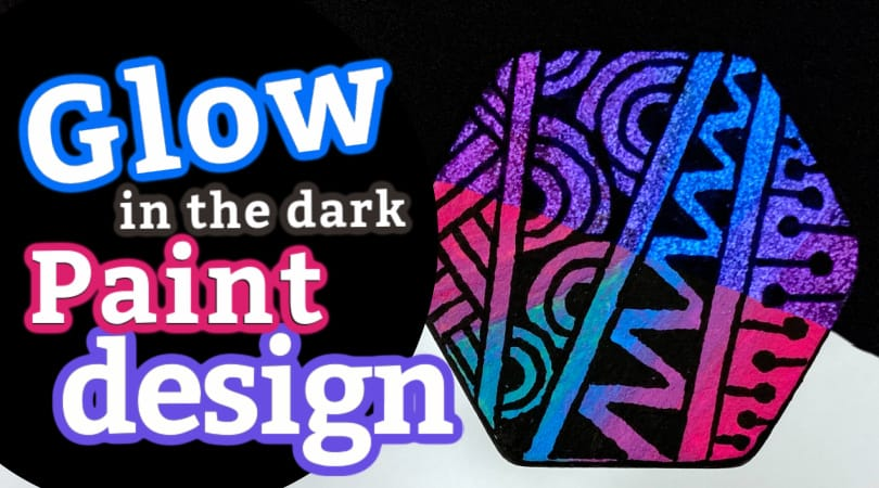 How to make a glowing Zentangle rock using glow in the dark paint