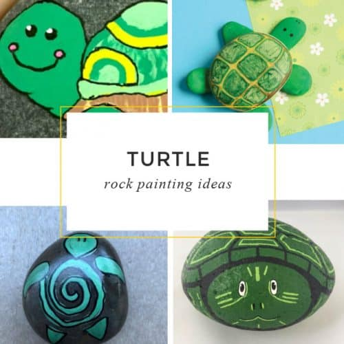 Turtle rock painting ideas for beginners