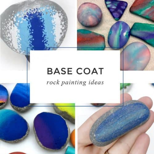 Starting your rock painting project with one of these base coat ideas is a great way to give your rock that added wow factor. You can do a solid color or add a fun pattern.