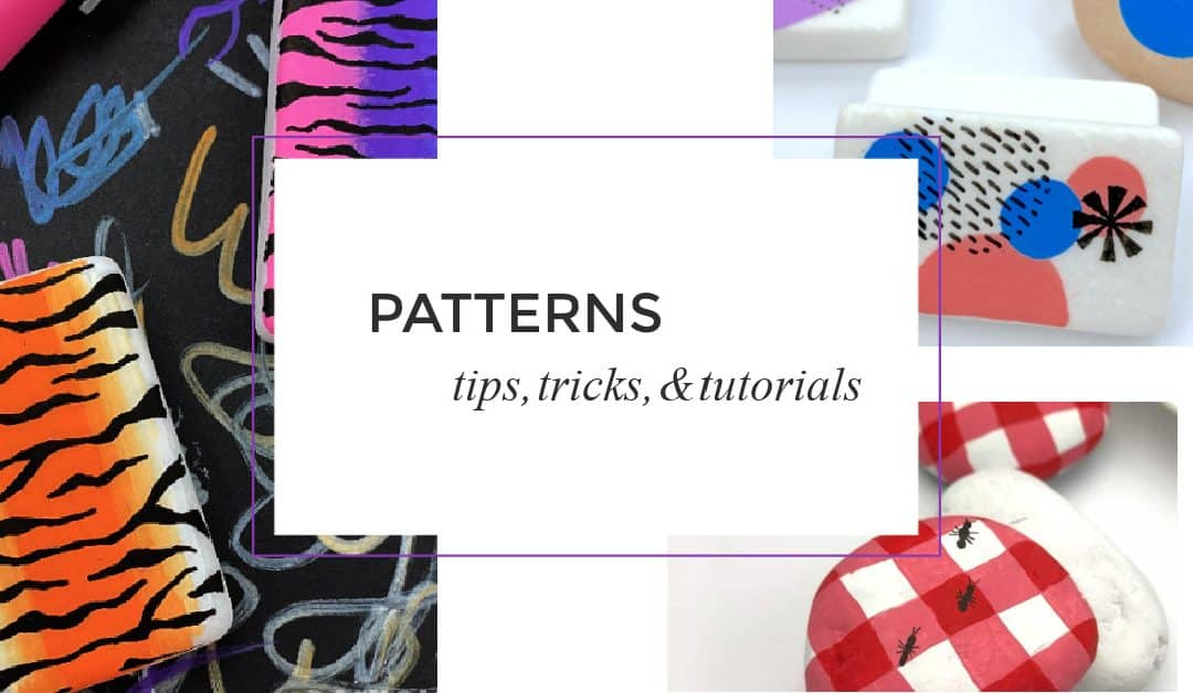 How to paint patterns on rocks: 11 easy tutorials