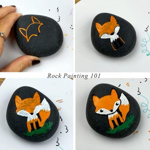 how to paint a fox step by step