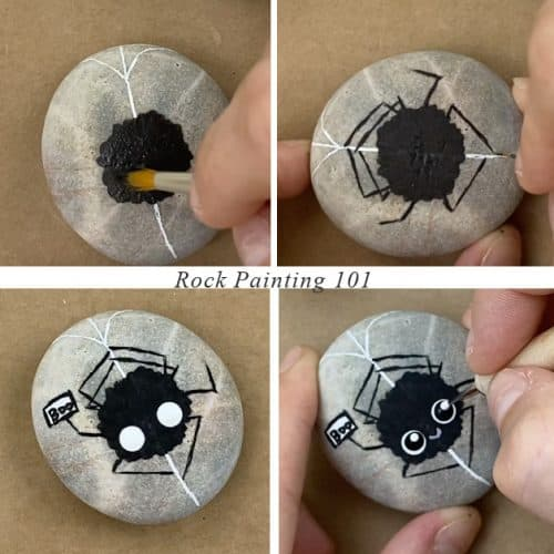 How to paint a spider step by step