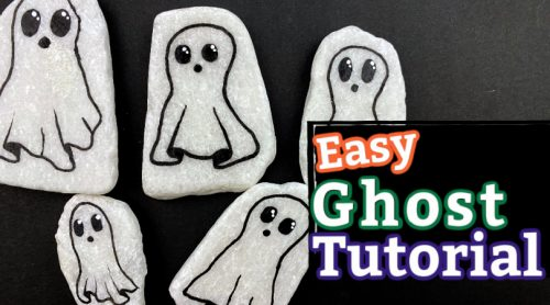 How to paint an easy ghost