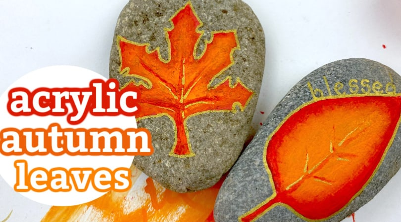 How to Paint Autumn Leaves with Acrylic Paint