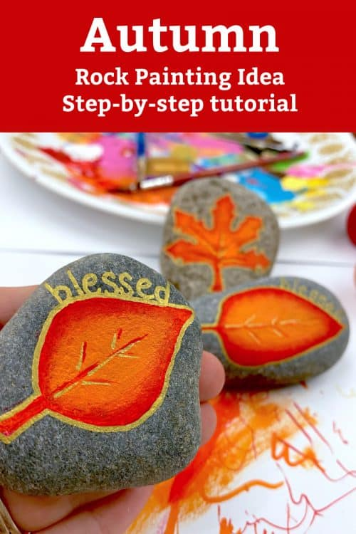 Blended acrylic paint autumn leaves tutorial video tutorial