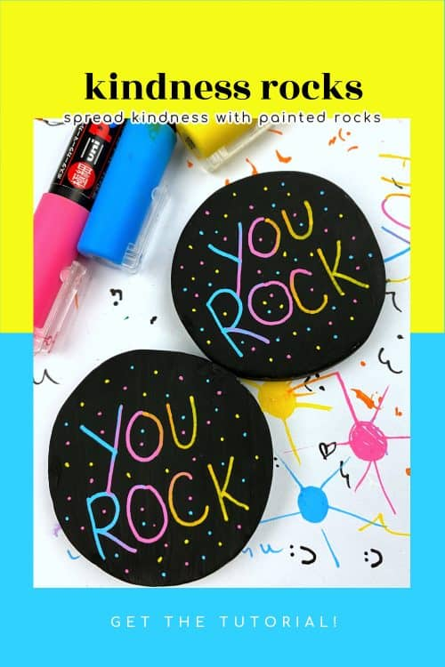 How to paint kindness rocks with blended paint pen lettering