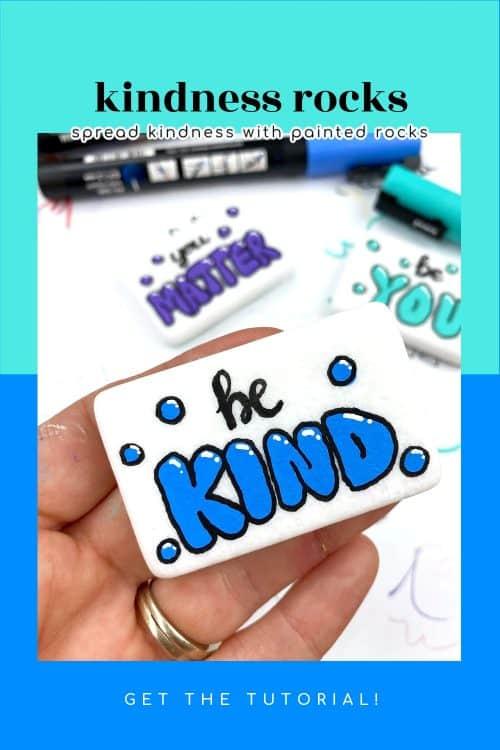 bubble letter kindness rocks