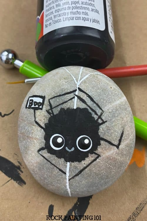 How to paint a cute spider step by step