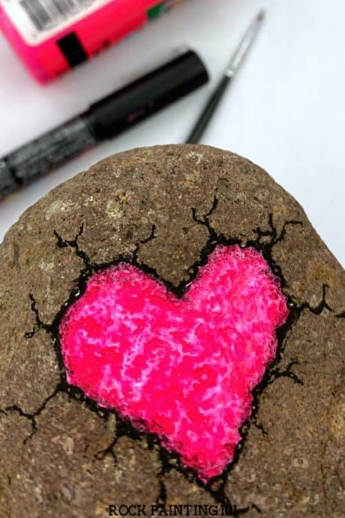 broken rock heart tutorial