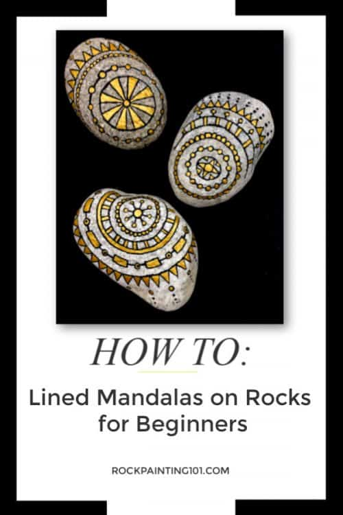 How to paint Mandala Rocks step-by-step for Beginners