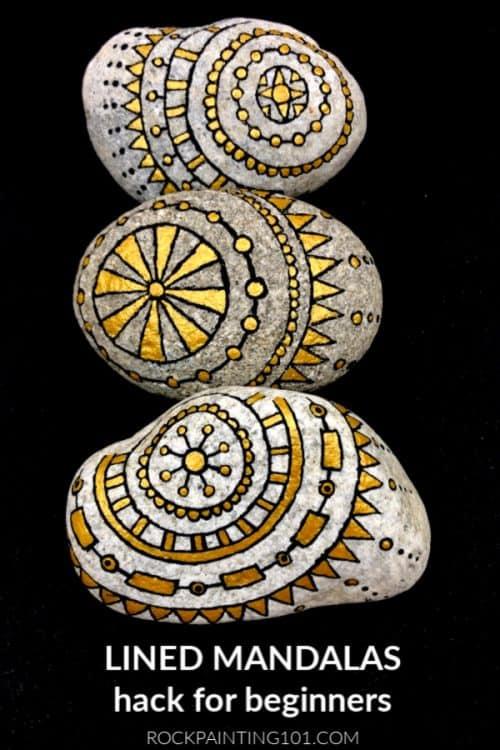Lined Mandala Painting Tutorial for Beginners