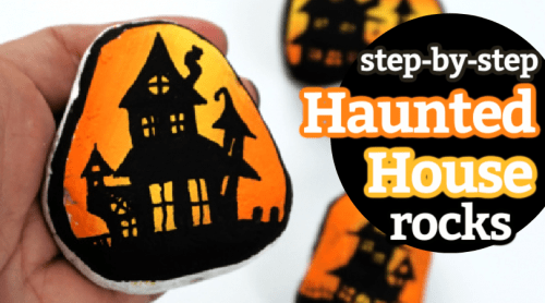 step by step haunted house painting