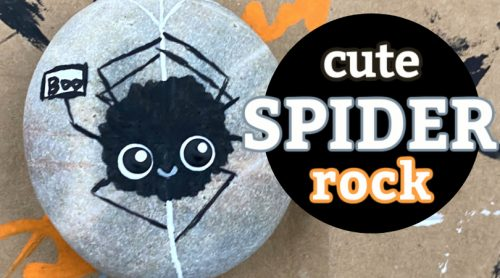 How to paint a cute spider