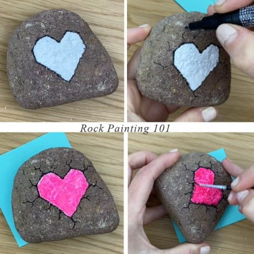 broken rock heart step-by-step tutorial