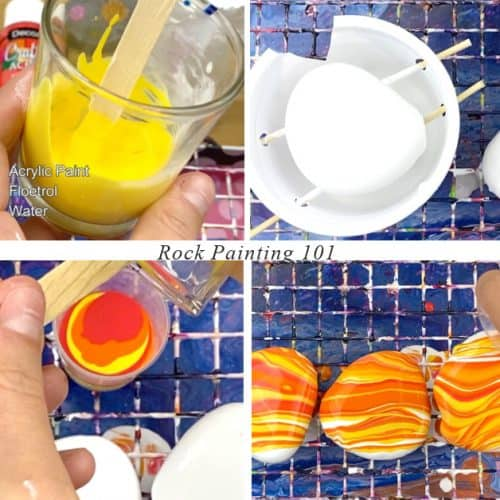 Pour Painting Steps for beginners