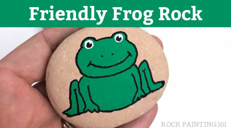 How to Paint a Frog Rock Tutorial for Beginners