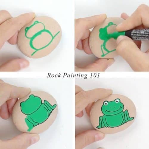 How to paint a frog step by step