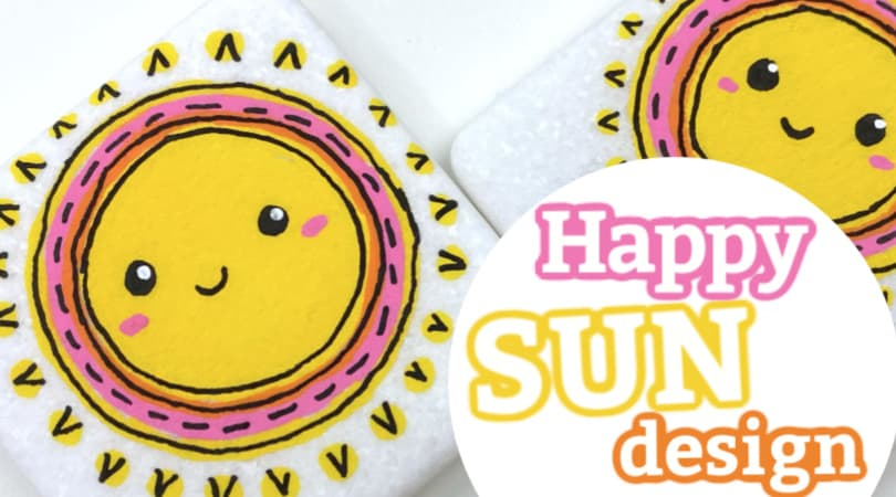 How to Paint a Happy Sun Design on a Rock