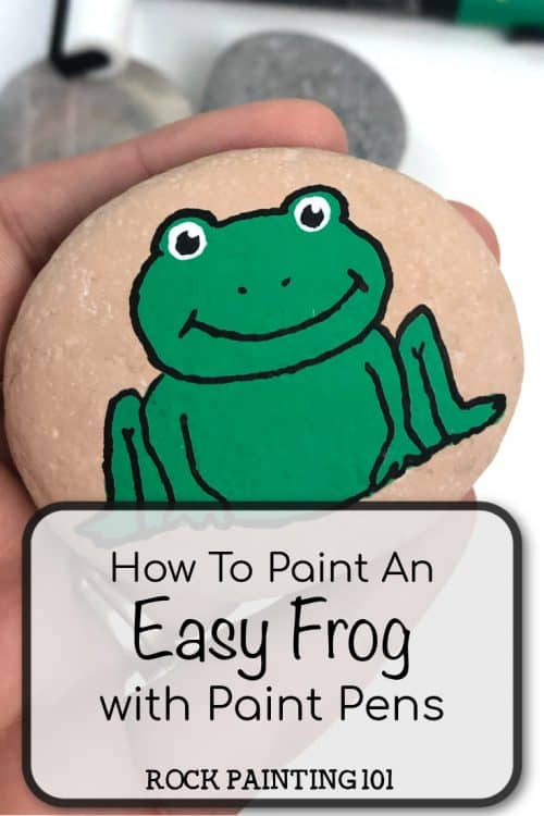how to paint an easy frog with paint pens