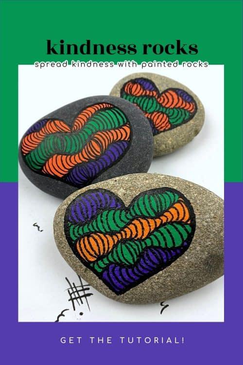 kindness rocks heart design