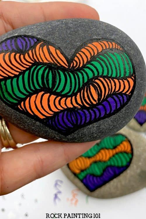 op art heart tutorial