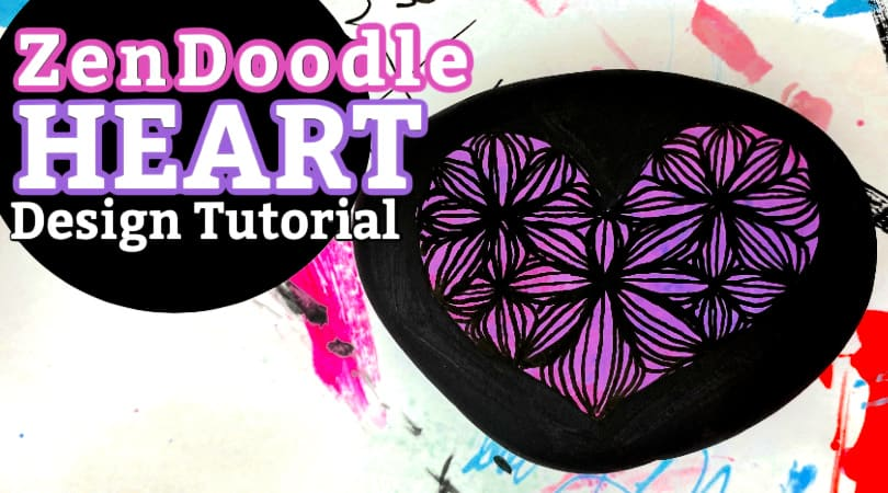 How to Create a Zendoodle Flower Heart Design